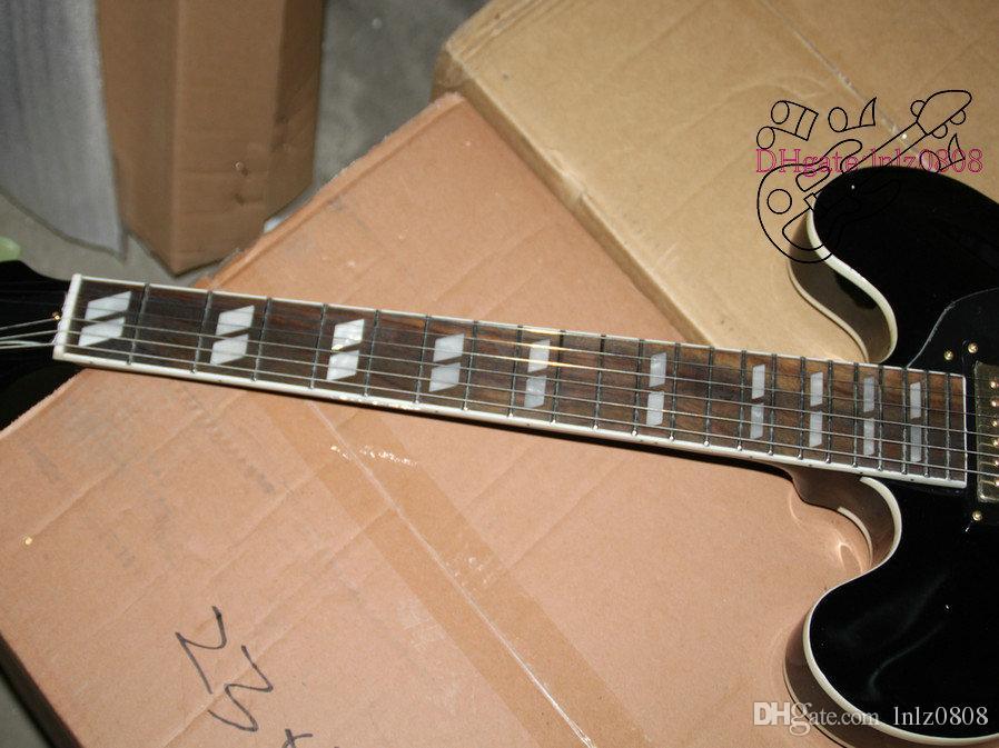 Black Custom Shop Hollow 335 Jazz Guitar High Quality