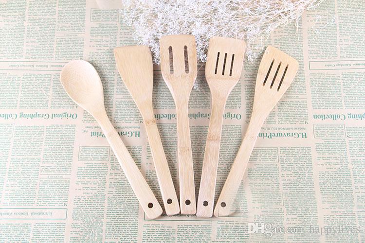 Acquista utensili di bambù utensili di legno di bambù utensili da