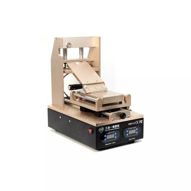 TBK-318 2016 Dernière 3 en 1 LCD Écran Tactile LOCA OCA UV Colle Polariseur Film Degumming Séparateur Machine Remover Propre Construit en Pompe à Vide