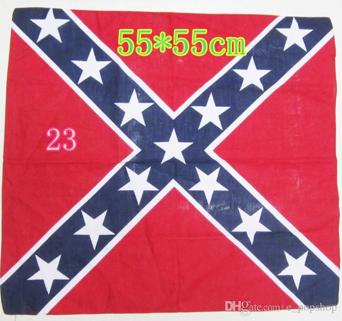 Confederate Rebel Flag Bandanas Flag Print Bandana Headbands For ... 7705886074ad
