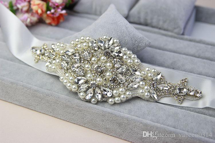 Custom Made Exquisite Heavy Beading Rhinestone Crystals Wedding Belt For Bridal Wedding Accessory Wedding Sashes