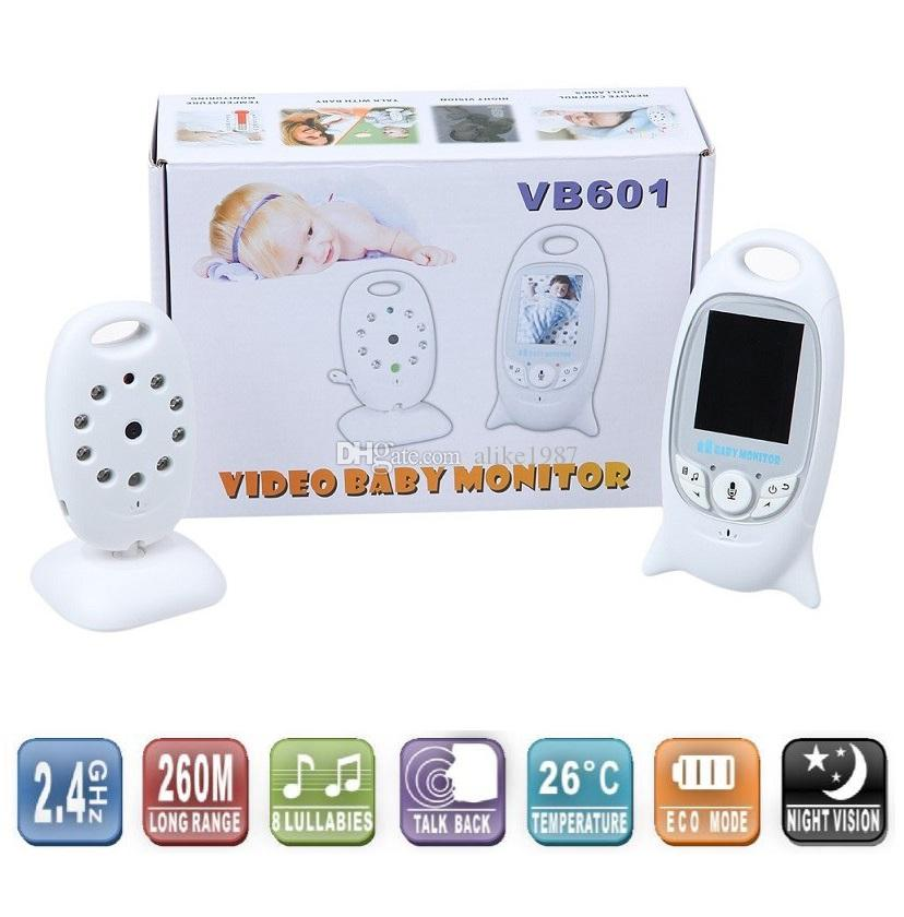 Hot babyfoon camera monitor 2.0inch LCD Intercom IR Nightvision Lullabies Temperature monitor Multi-language VOX system baby monitors