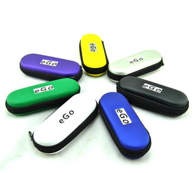 eGo zíper caso bolsa de transporte de couro para cigarros eletrônicos ugo evod visão spinner 2 kits de arranque colorido Zipper L / M / S Tamanho DHL