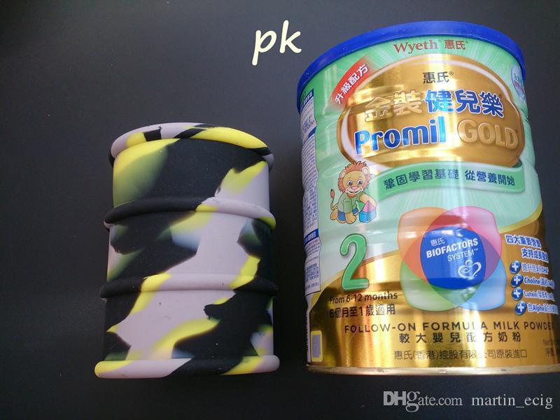 Big 500ml Silikonöl-Fass-Behälter-Gläser Dabber Wachs-Verdampfer-Öl-Gummi-Trommel-Formbehälter Große Lebensmittelqualität Silizium-Trockenkräuter-Werkzeug
