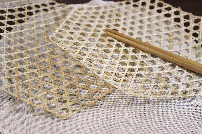 Mesa de bambu tecido placemats coaster 3 tamanhos isolado hot mat pote de cozinha cozinhar legumes malha dobrável steamer basket forros artesanato decoração
