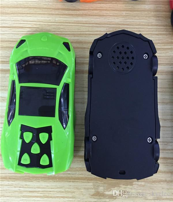 MP3 Media Player Green Car Shape MP3 Media Player With Speaker Suppport 128MB 32GB TF SD Card Wireless Mp3 Player 32gb Mp3 Player Mini Mp3