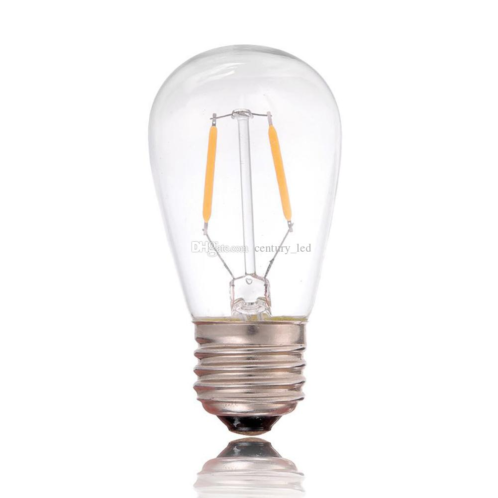 Vintage Led Filament Bulb Light St45 Edison Style 1w 2200k 110v 220v