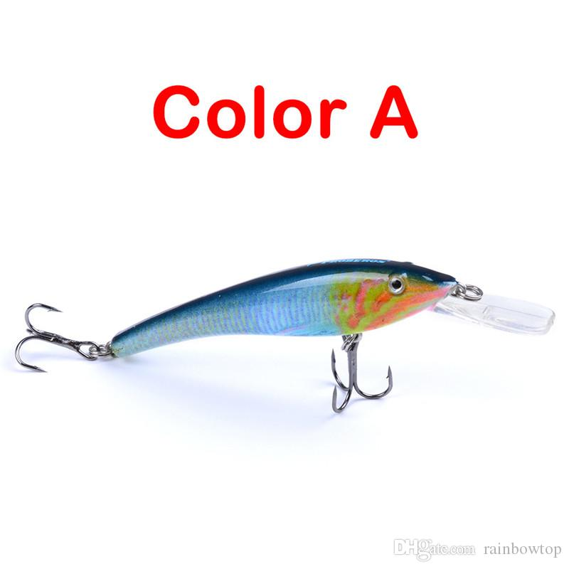 New Crank fishing lures hooks 9.5cm 5.7g Fly Fishing Crankbait ABS plastic simulation hard Bait with retail box