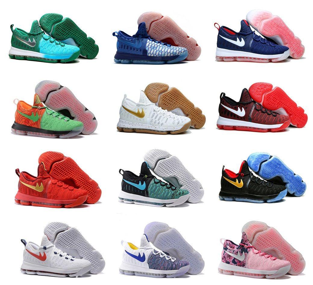 New Arrival Christmas Kd 9 Basketball Shoes Premiere Usa Olympics ...