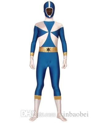 mixed color Spandex Zentai Super Sentai Lycra leotard tights adult children Halloween costumes Theatrical Costume