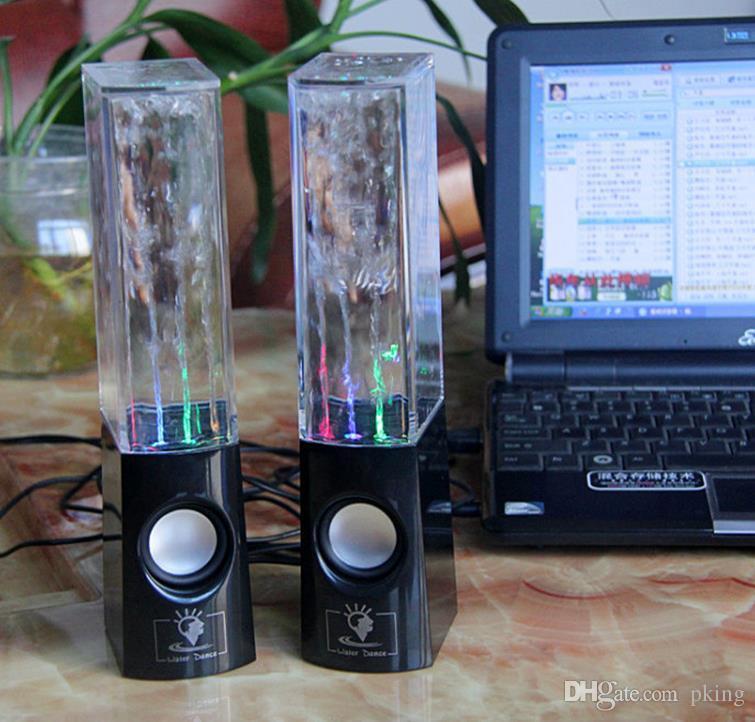 Dancing Water Speaker Portable Mini USB LED Light Speaker For PC Laptops Tablets Mobiles Subwoofer water-column audio