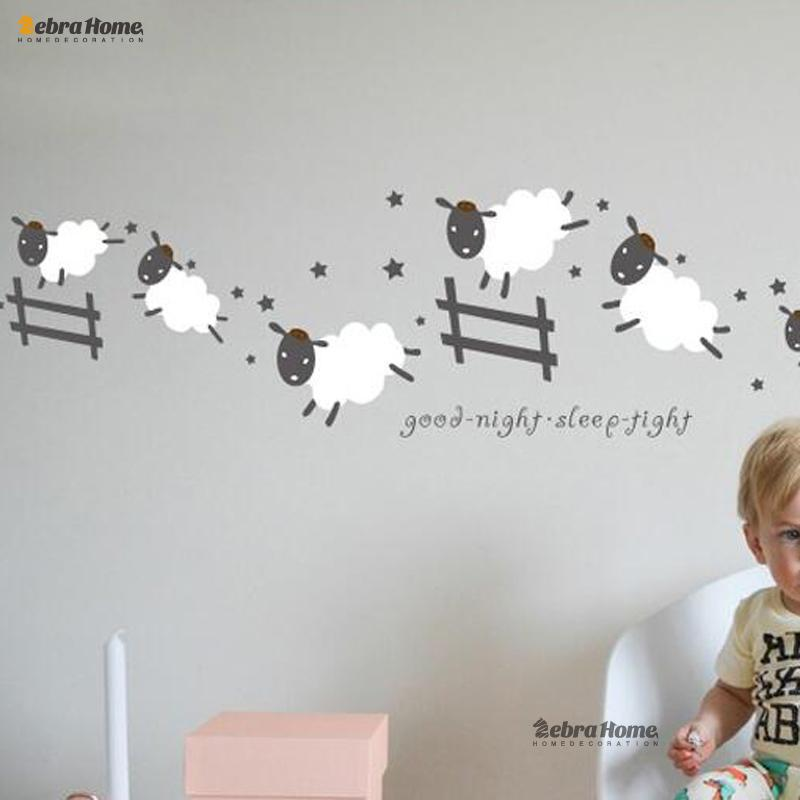 Wall Stickers Jumping Wall Sticker Good Night Sleep Tight Decal Counting  Sheep Kids Baby Room Bedroom Nursery 40x120cm Home Decoration Part 97