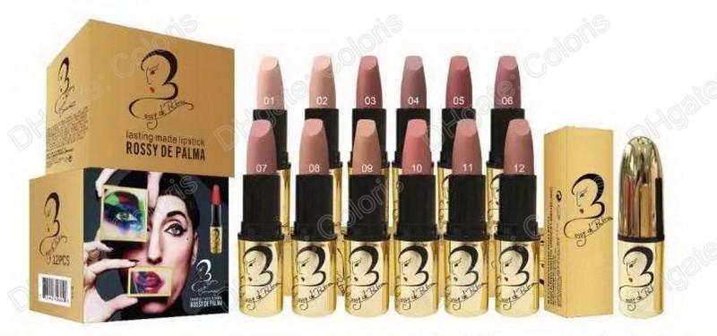 Makeup Rossy De Palma Matte Lipstick Lasting Matte Lipstick Nude Color Lipstick Have 12 Different Color
