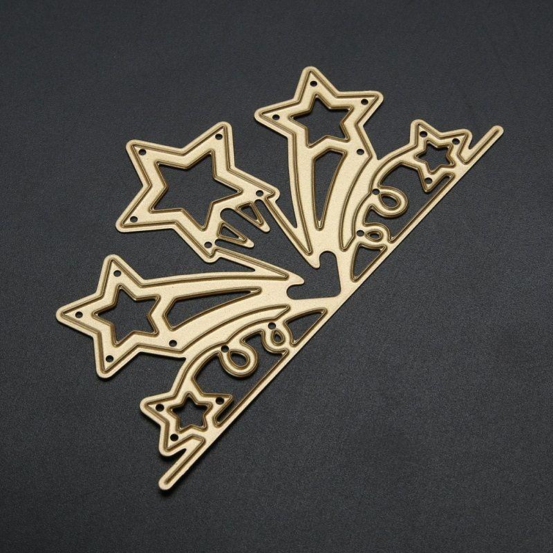 Altın Yıldız Çiçek Şube Metal Kabartma Kesme Ölür Şablonlar DIY Scrapbooking Fotoğraf Albümü Kağıt Kartları Dekoratif Zanaat Ölür