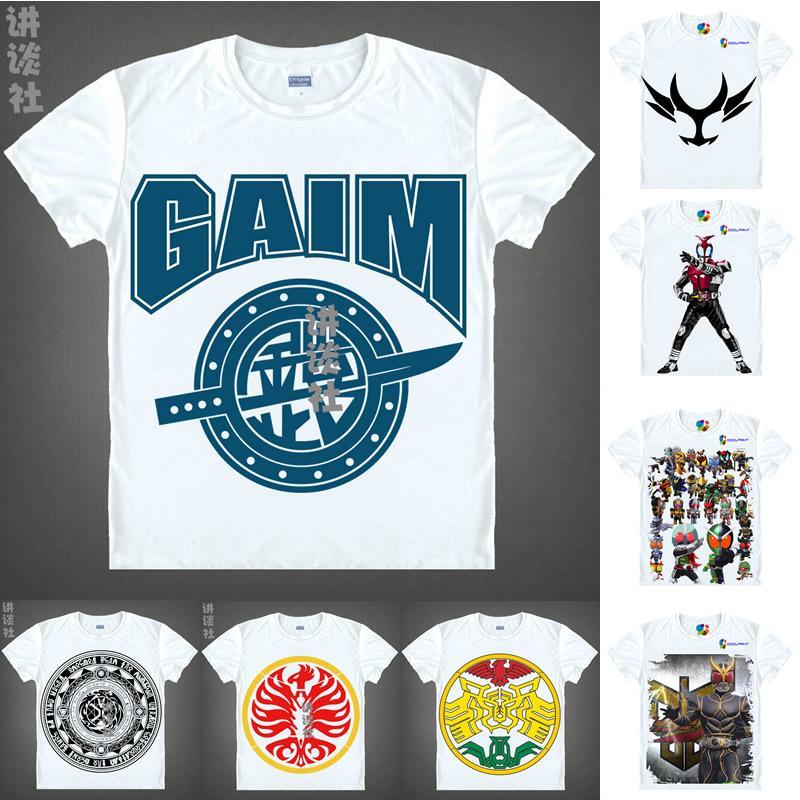 Anime Shirt Kamen Rider Masked Rider T-Shirts Multi-style Short Sleeve  Riderman Skyrider Kuuga Agito Kabuto Cosplay Motivs Hentai Shirts