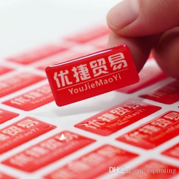 Adesivo adesivo personalizzato Stampa Stampa Clear Dome Rotonda Rotonda Resina Epossidica Ralzata Lable Si prega di inviare design o logo