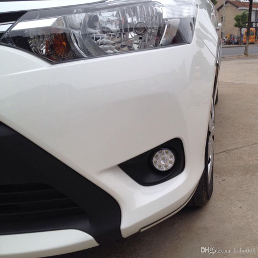 세트 트랙 9-LED 라운드 주간 주행 러닝 라이트 DRL 자동차 안개 램프 슈퍼 화이트 DIY
