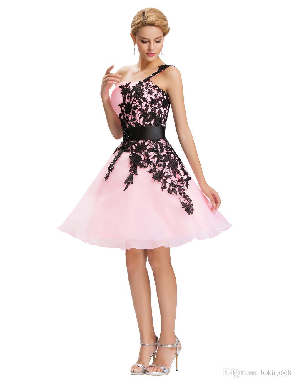 f2a56fdb3 Compre 2019 Sexy Prom Vestidos De Noche Rojo Corto Uno Shourlder Bordado  Vestido De Bola Grace Karin Vestidos Formales De Gala Abendkleider Por  Encargo A ...