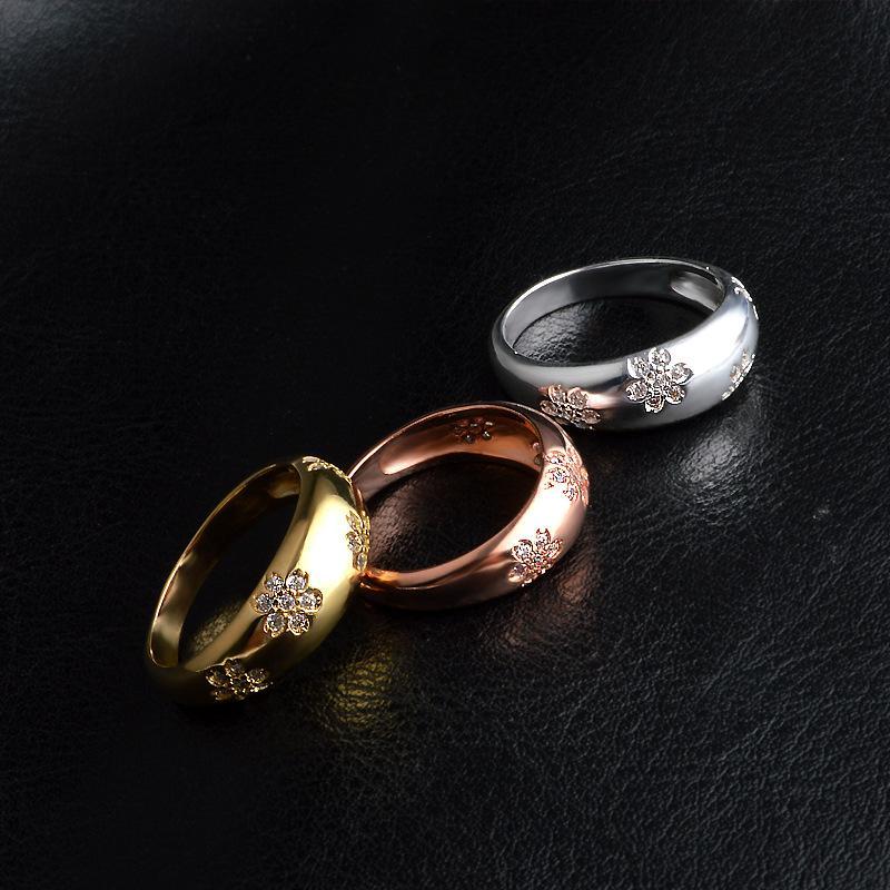 Frauen Blume Ring High End Verfeinerung Modeschmuck Mit Hochzeit Geburtstag Zeitlose Ringe Elegante Modeschmuck Frauen