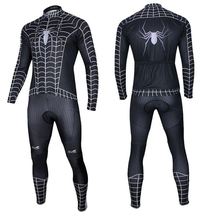 Herói da série de ciclismo jersey set bicicleta spiderman dos homens de manga longa sportwear confortável bicicleta clothing jerseys tamanho s-XXXL