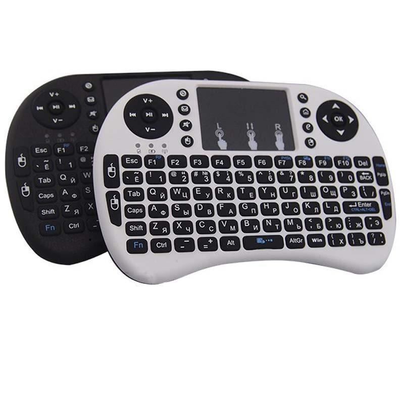 20 2.4G Dokunmatik Fly Air Fare ücretli pil USB Kablosu Siyah ve Beyaz Taşınabilir 2.4G Rii Mini i8 Kablosuz Klavye Mouse Touchpad OTH208