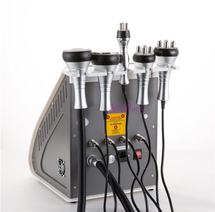 Effektive starke 40K Ultraschall Kavitation Körperformung Abnehmen Vakuum RF Haut Fester Körper Lift rot Photon Maschine mit Trolly Kühlgel