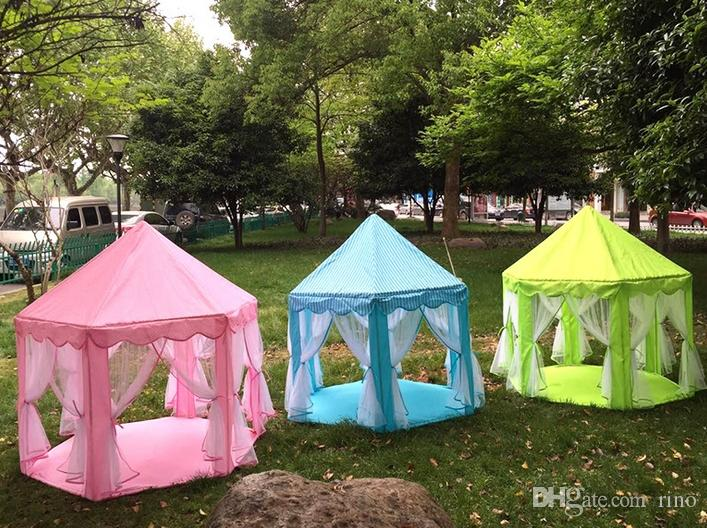 Kids Play Tents Prince and Princess Party Tent Children Indoor Outdoor tent Game House Three Colors with 1M LED Light