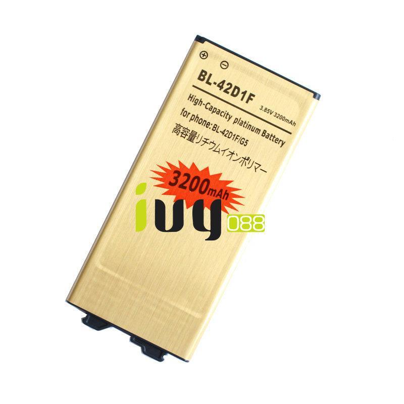 1x 3200 mah bl-42d1f bateria de substituição de ouro + carregador universal para lg g5 h868 h860 h860 h850 h860 h850 h860 h860 f880a h860 h860