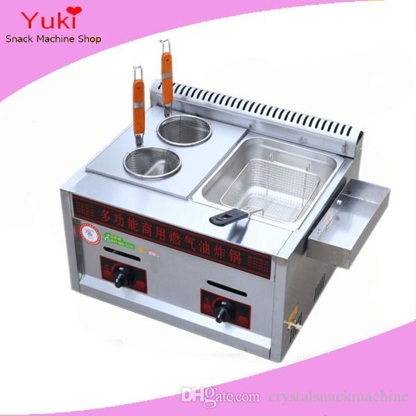 Commercial Deep Fryer Gas Mini Noodle Pasta Cooker Japanese Oden ...
