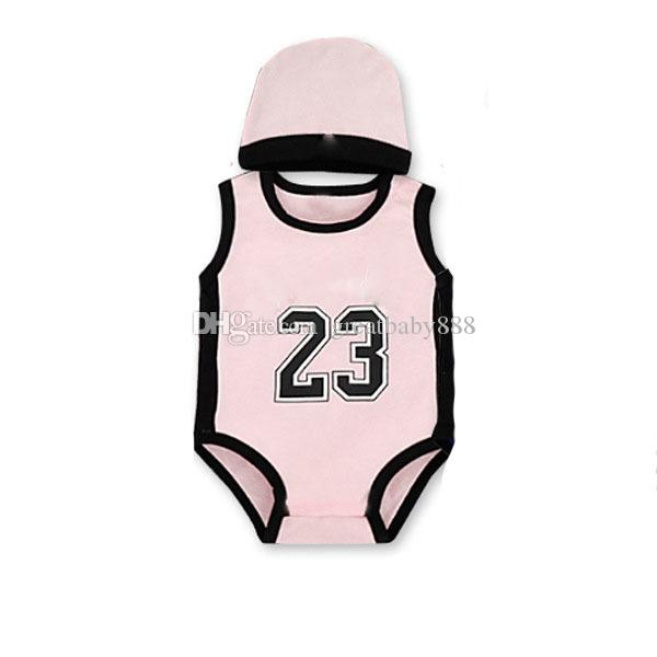 Baby digital romper summer infant 23 number Jumpsuits kids Climbing clothes with hat C2677
