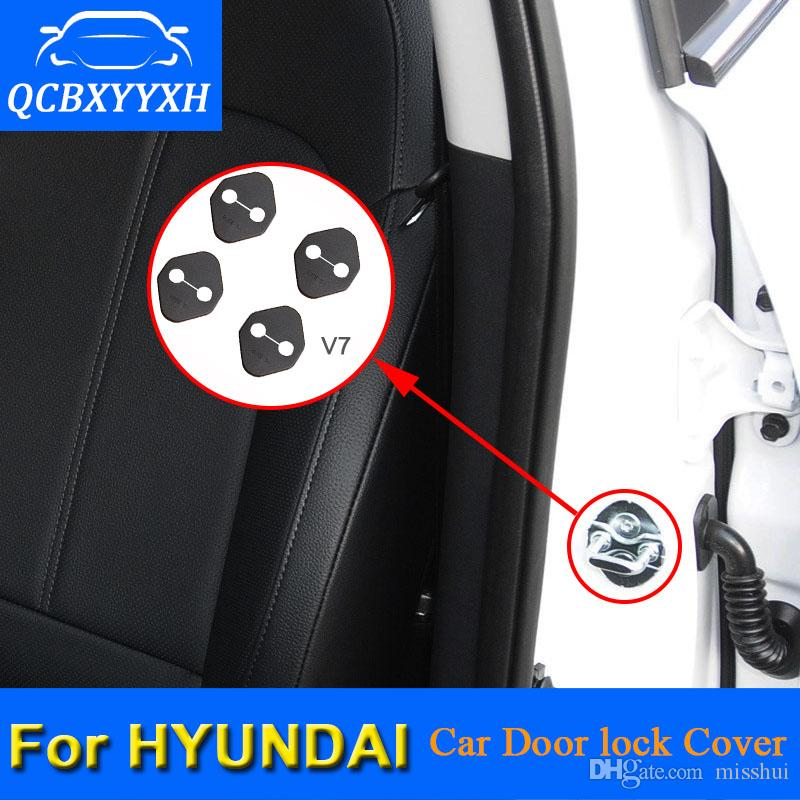 현대 IX25를위한 차문 잠금 보호 덮개 Tucson Sonata Elantra 웅대 한 Santanfe IX45 차문 자물쇠 장식 자동 덮개