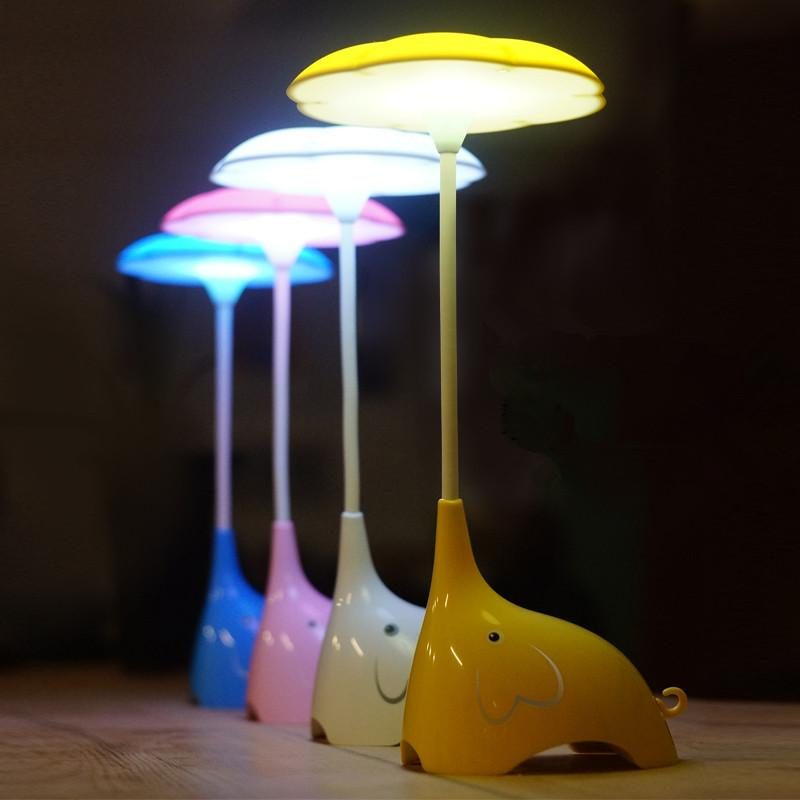 Cute Elephant Night Light Bedroom Table Lamp Rechargeable Bedside Night Light Touch Led Night Lamp Best Gift