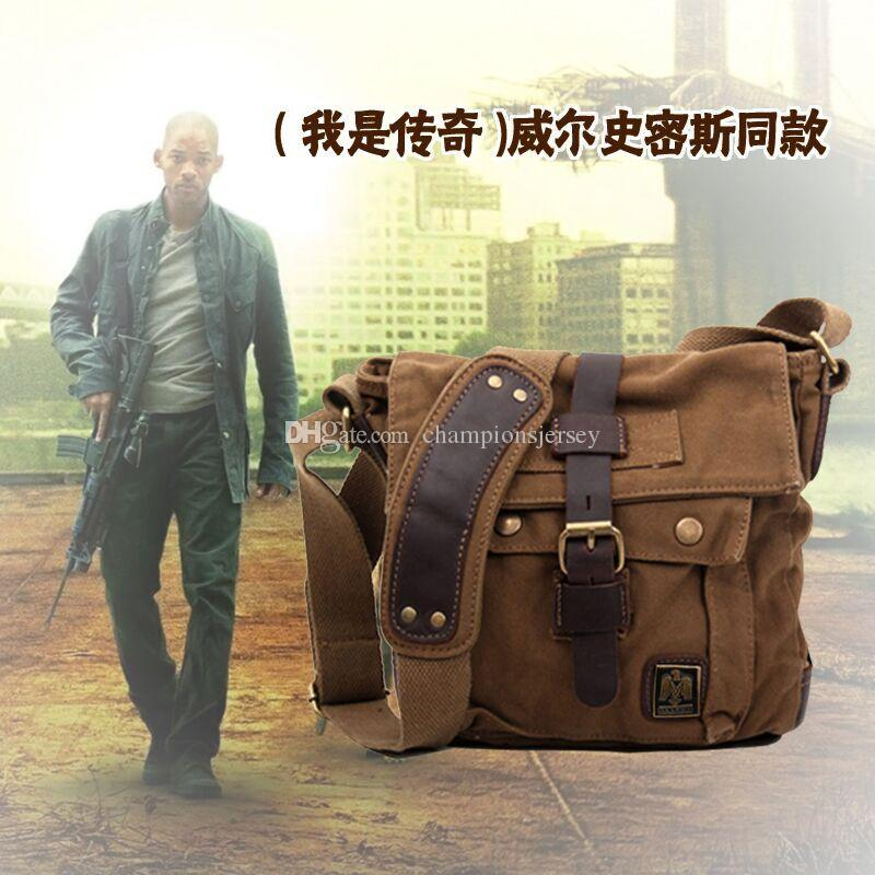 AKARMY canvas bag man casual shoulder bag dedicated for IPAD canvas bag diagonal small bag 551