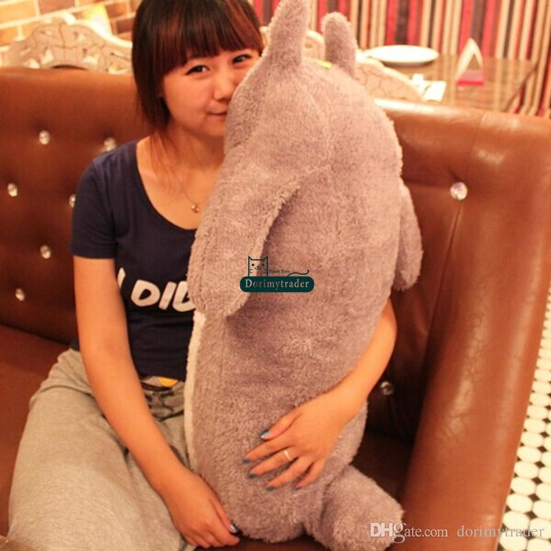 Dorimytrader Top 39'' / 100cm Lovely Big Stuffed Soft Plush Cute Giant Cartoon Anime Totoro Pillow Toy Nice Baby Gift DY60057