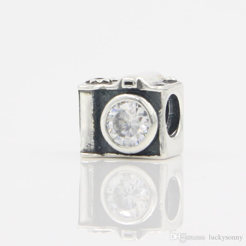 S925 Silber Pandora Charms für Armbänder DIY Jewlery machen europäischen großen Loch lose Perlen Pandora Style Fashion Silberschmuck Freies Verschiffen