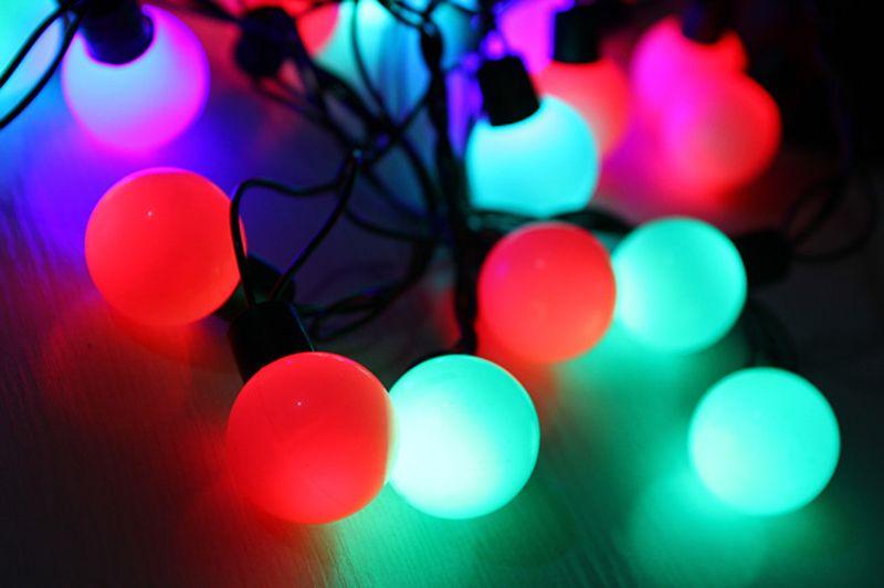 5M 20 LEDs luces de navidad Woold Ball String LED Luces de Hadas Fiesta de Boda de Navidad Decoración Del Hogar Lámpara Bombilla Colores 220 v