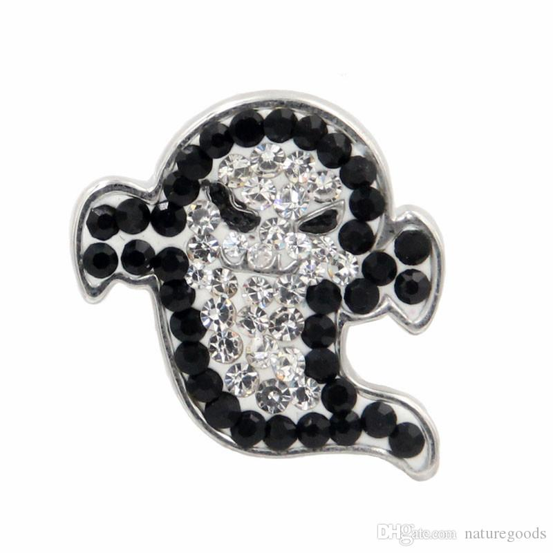 2017 Hot latest computer noosa Halloween ghosts charm 18 mm snap button snap button jewelry, fashion jewelry