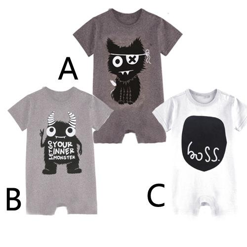 Cheap Sleeveless Infant Lovely Two-Piece Boys Clothing Cute Baby Boy Crawling Movement Clothing Size 0 to 24 m 2016 Summer