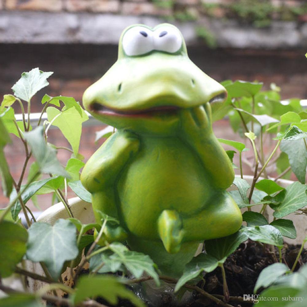 작고 귀여운 공예 도자기 공장 관수 글로브, Forg 모양의 관개 식물, 작은 공예 유리 식물 물을 지구본 글로브