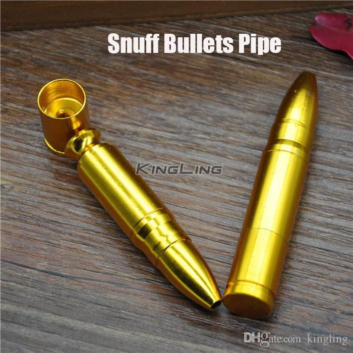 Wholesale Snuff Bullet Gold Color Snuffs Bullet Nose Smoking Pipe Aluminum Metal Snuff Snorter Smoking Pipes Portable Good Gift Homemade Coil Jig Homemade ... & Wholesale Snuff Bullet Gold Color Snuffs Bullet Nose Smoking Pipe ...
