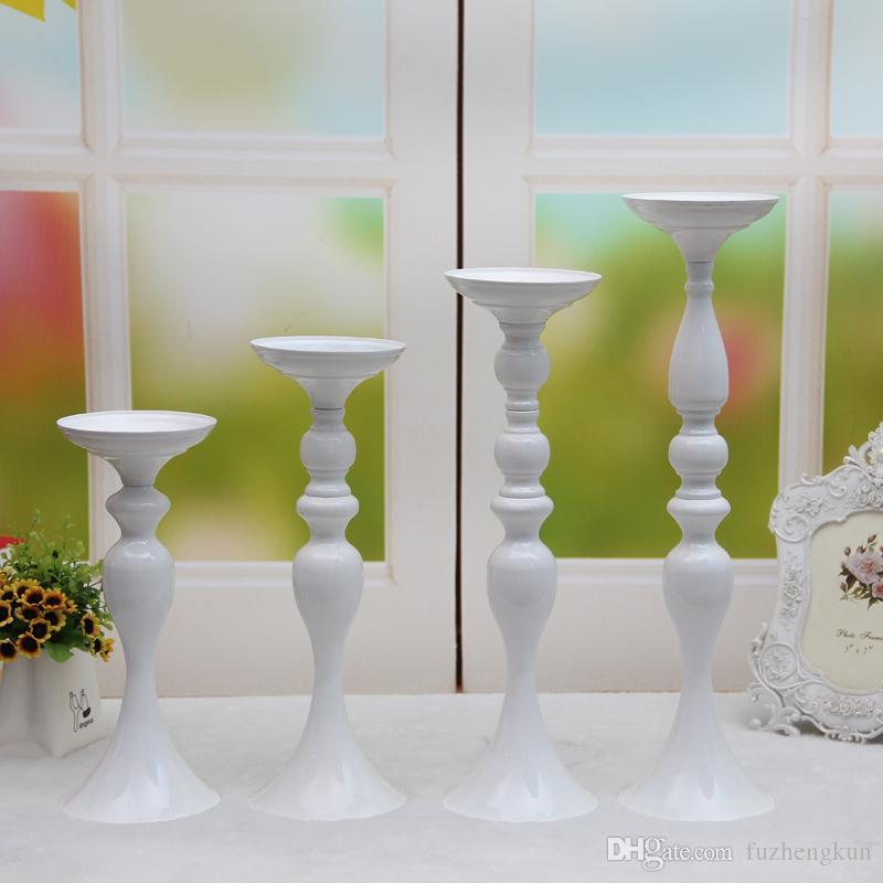 3 Farben! Freies verschiffen 50 cm höhe metall kerzenhalter kerzenständer hochzeitsmittelstück ereignis straße blei blume rack home decoration