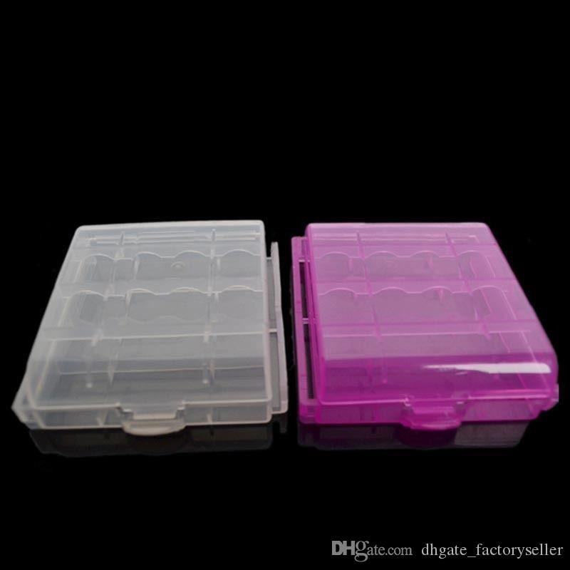 Hard Plastic Case Holder Storage Box Battery Storage Boxes For AA AAA Battery