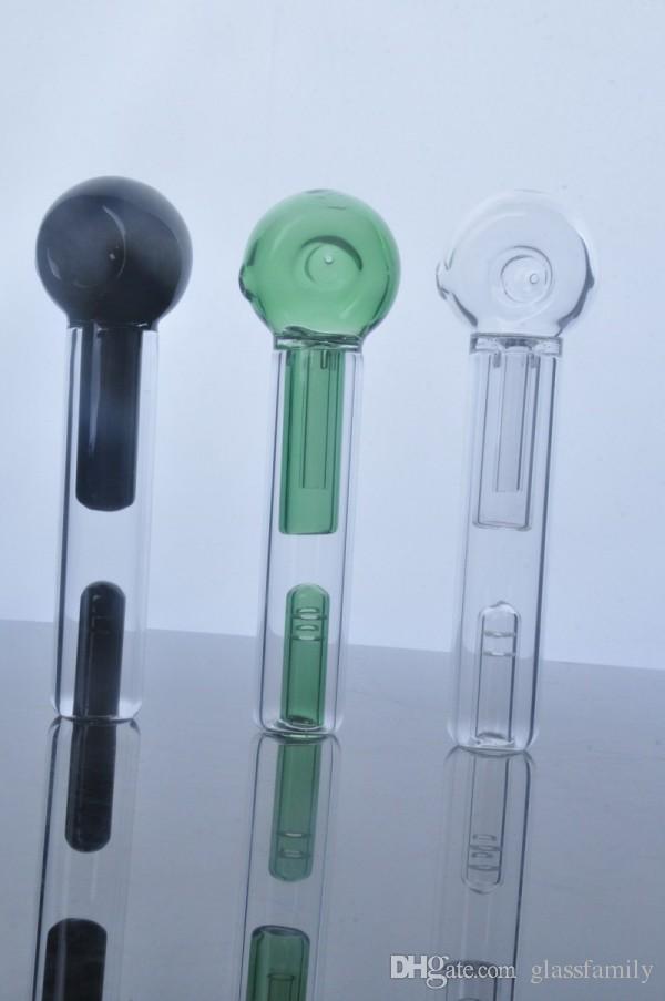 최신의 다채로운 최신 핸들 유리 파이프 담배 파이프 숟가락 버블 러 하이브리드 유출 증거 흡연 봉 무료 배송