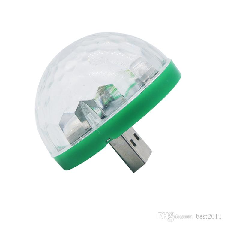 RGB LED Music Stage Lights USB Disco Club DJ Light Show Bulb Projector Crystal Magic Ball dj effect lighting Small magic