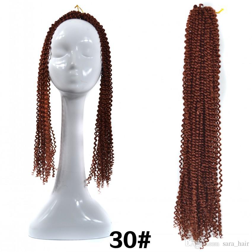 Jumpy Wand Curl Twist Crochet Braid Giamaicano Bounce Kanekalon Afro Intrecciare i capelli Extension 60CM, 24