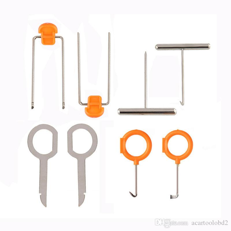 12 unids / set herramientas caseras para la radio del coche Clip de la puerta Panel Recortar eliminación de audio Pry Repair Kit de herramientas Nuevo