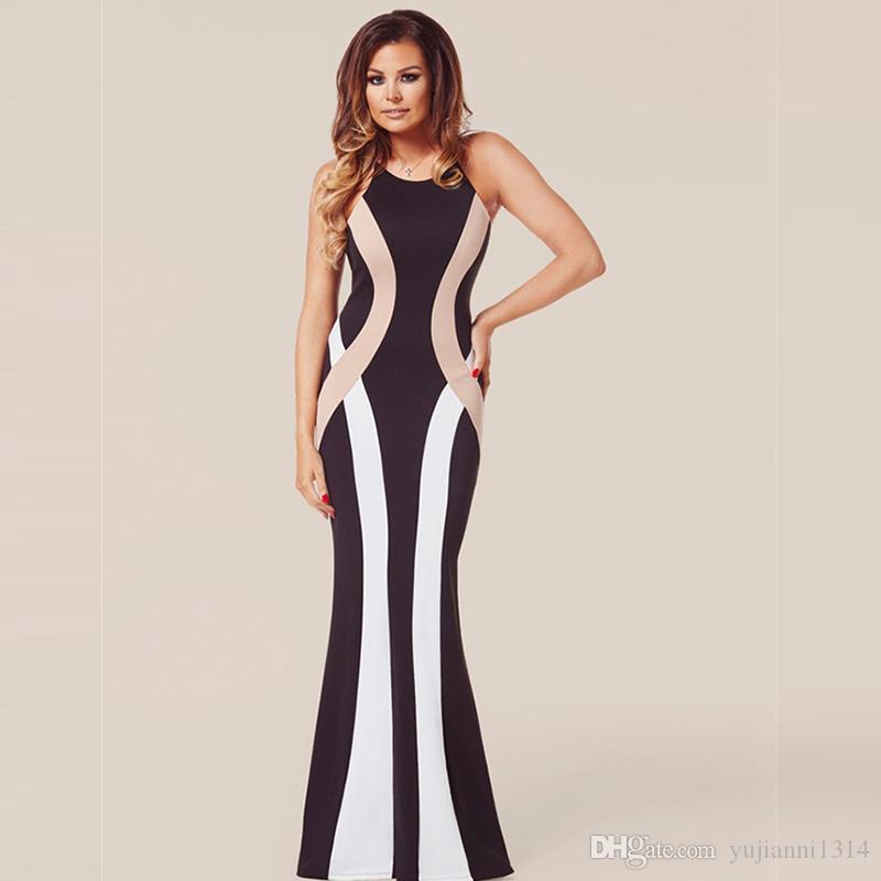 Best 2016 Prom Dresses Striped Zebra Black And White Cross Back One