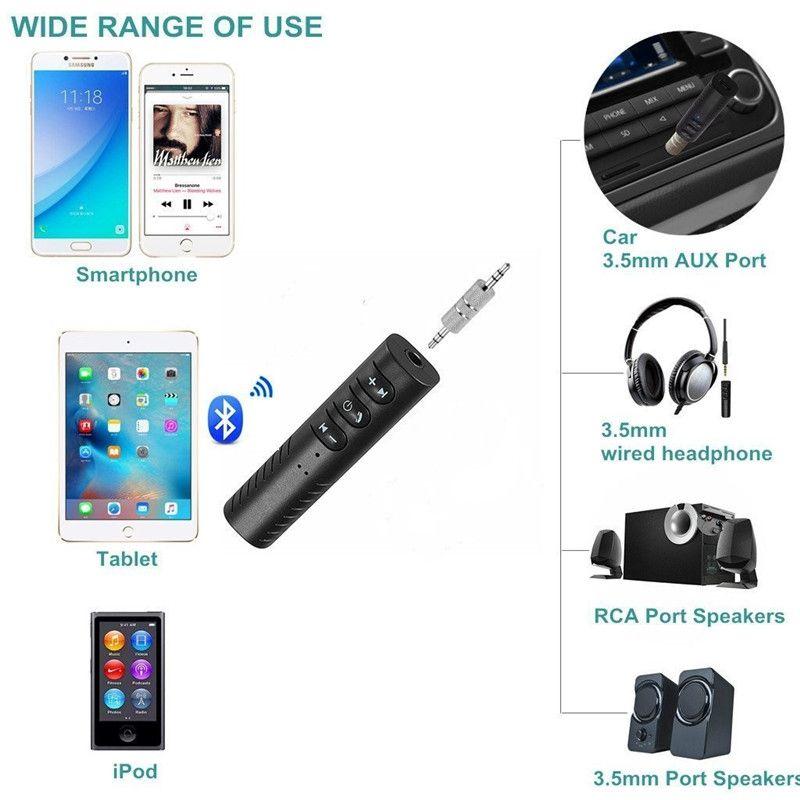 Bluetooth Empfänger Car Aux Audio Adapter Mini Wireless Freisprecheinrichtung Musik Kit für Home Car Stereo System Wired Kopfhörer