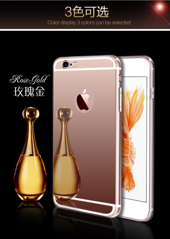 Espejo de galvanoplastia funda de TPU suave para iPhone 7 iphone 6 6S Plus 5 5s Samsung Note 7 S7 borde cubierta posterior cajas del teléfono