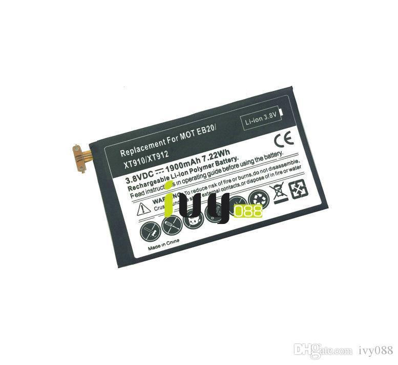 / 많은 1900mAh 사각형 SNN5899B 교체 배터리 모토로라 EB20 EB40 XT910 XT912 배터리 Batteria Baterij